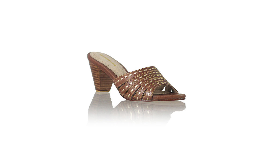 Leather-shoes-Evita 70mm WH - Brown & Gold-sandals midheel-NILUH DJELANTIK-NILUH DJELANTIK