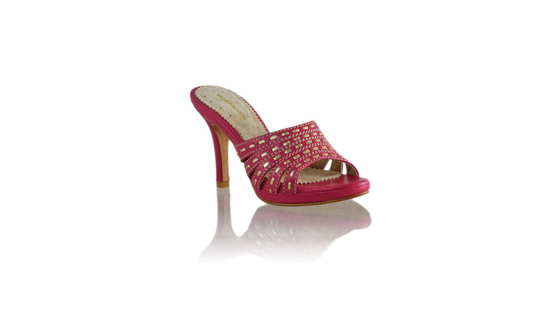 Leather-shoes-Evita 90MM SH-01 PF - Fuschia & Gold-sandals higheel-NILUH DJELANTIK-NILUH DJELANTIK