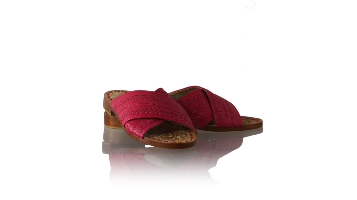 Leather-shoes-Gili 20mm Flat - Dark Fuschia-sandals flat-NILUH DJELANTIK-NILUH DJELANTIK