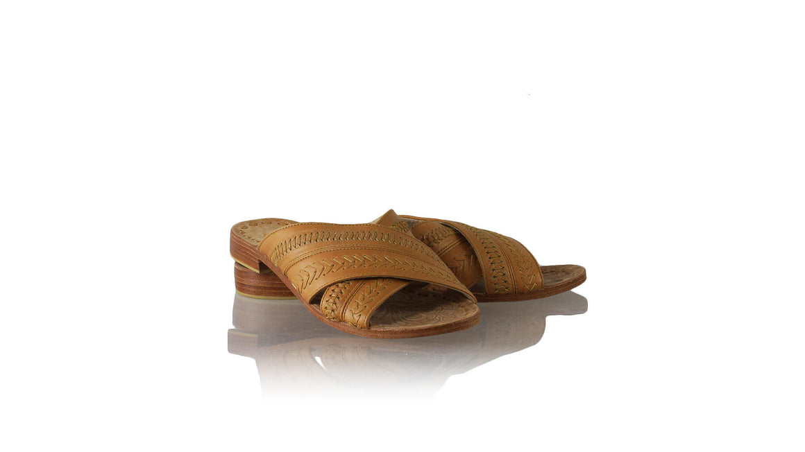 Leather-shoes-Gili 20mm Flat - Light Brown-sandals flat-NILUH DJELANTIK-NILUH DJELANTIK