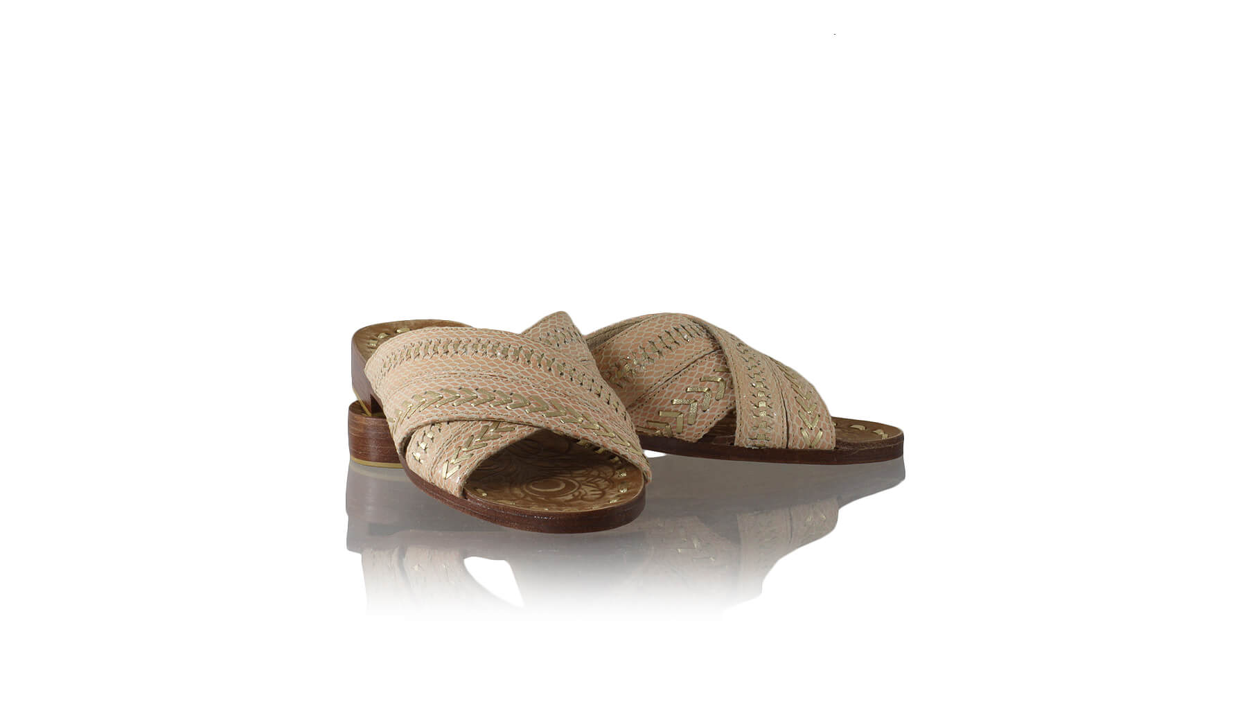 Leather-shoes-Gili 20mm Flat - Salmon Pink Snake Print & Gold-sandals flat-NILUH DJELANTIK-NILUH DJELANTIK