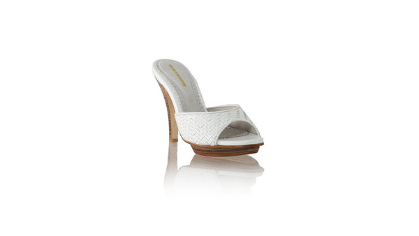 Leather-shoes-Gita Woven 115mm SH PF - White-sandals higheel-NILUH DJELANTIK-NILUH DJELANTIK