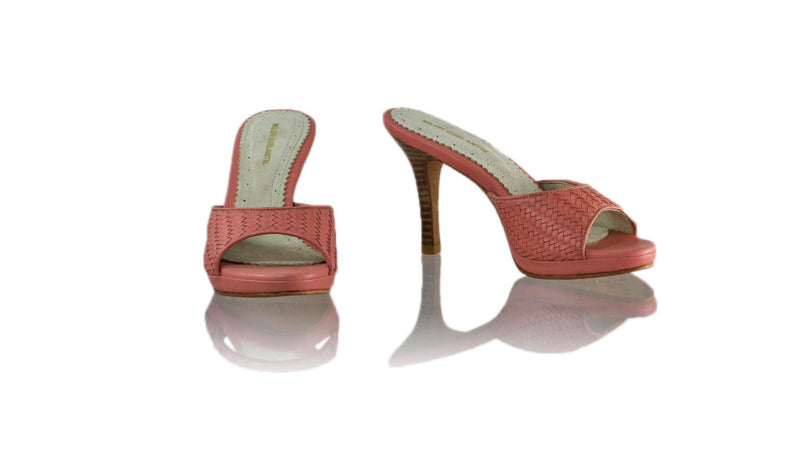 Leather-shoes-Gita Woven 90mm SH PF - Salmon Pink-sandals higheel-NILUH DJELANTIK-NILUH DJELANTIK