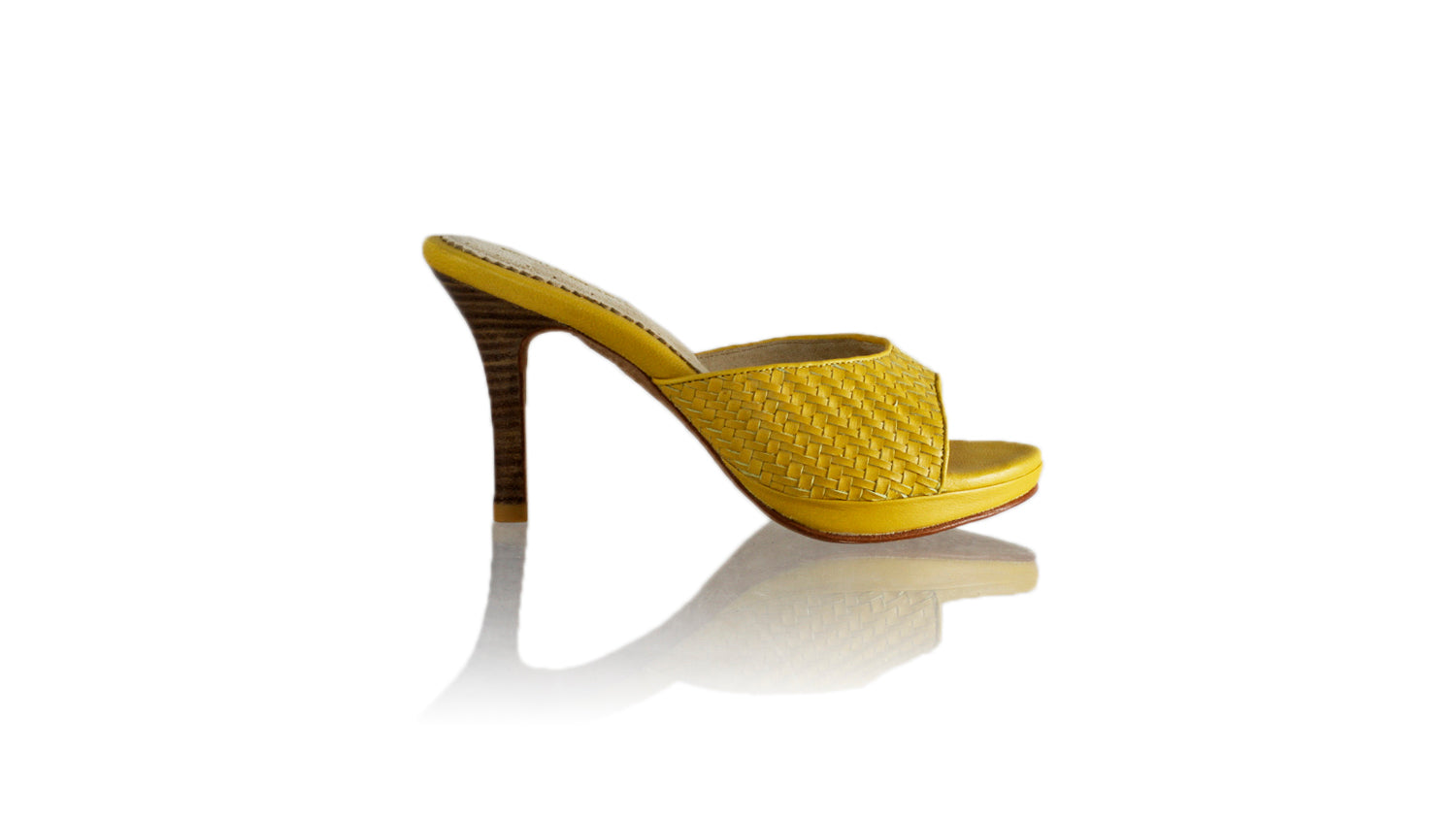 Leather-shoes-Gita Woven 90mm SH PF - Yellow-sandals higheel-NILUH DJELANTIK-NILUH DJELANTIK