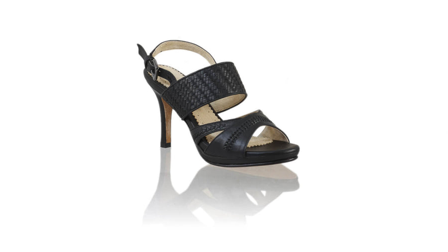 Leather-shoes-Happy 90mm SH PF - Black-sandals higheel-NILUH DJELANTIK-NILUH DJELANTIK