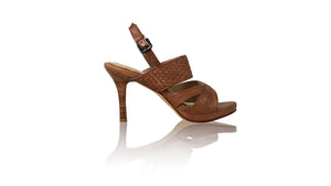 Leather-shoes-Happy PF With Strap 90mm SH - Brown-sandals higheel-NILUH DJELANTIK-NILUH DJELANTIK
