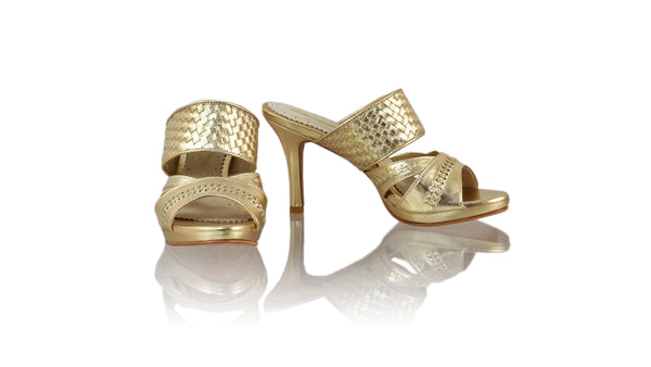 Leather-shoes-Happy Without Strap 90mm SH PF - Gold-sandals higheel-NILUH DJELANTIK-NILUH DJELANTIK
