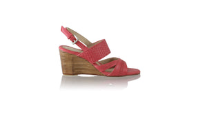 Leather-shoes-Happy Woven 80mm Wedges - Red-Shoes-NILUH DJELANTIK-NILUH DJELANTIK