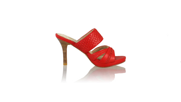 Leather-shoes-Happy Without Strap 90mm SH PF - Red-sandals higheel-NILUH DJELANTIK-NILUH DJELANTIK