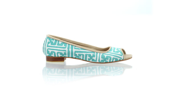 Leather-shoes-Kate Peeptoe 20mm Ballet - Tosca Batik Motif Labyrinth-flats ballet-NILUH DJELANTIK-NILUH DJELANTIK