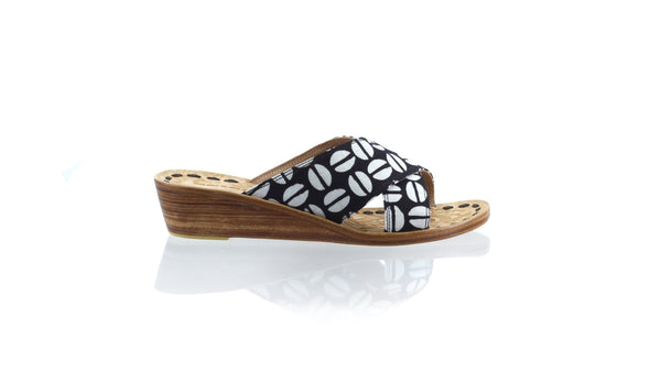 Leather-shoes-Ines 35mm Wedge - Black Batik Motif Coffee-sandals wedges-NILUH DJELANTIK-NILUH DJELANTIK