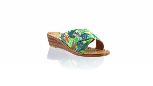Leather-shoes-Ines 35mm Wedge - Multicolor Forest-sandals wedges-NILUH DJELANTIK-NILUH DJELANTIK