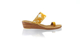Leather-shoes-Arini 35mm Wedge - Mustard Batik Motif Ceplokan-sandals wedges-NILUH DJELANTIK-NILUH DJELANTIK
