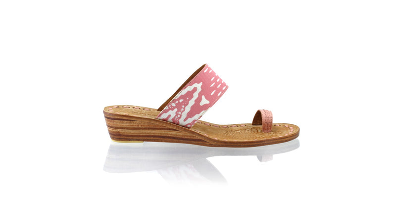 Leather-shoes-Arini 35mm Wedge - Dusty Pink Batik Motif Zigzag-sandals wedges-NILUH DJELANTIK-NILUH DJELANTIK
