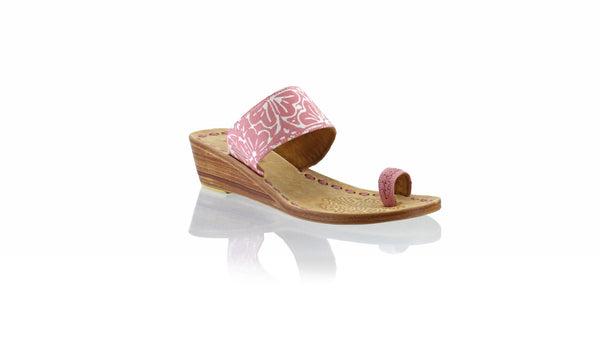 Leather-shoes-Arini 35mm Wedges - Dusty Pink Batik Motif Flower-sandals wedges-NILUH DJELANTIK-NILUH DJELANTIK