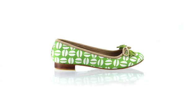 Leather-shoes-Noemi 20mm Ballet - Green Batik Motif Coffee-flats ballet-NILUH DJELANTIK-NILUH DJELANTIK