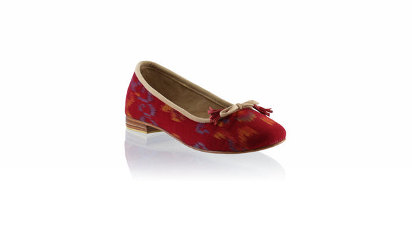 Leather-shoes-Noemi 20mm Ballet - Mix Red Endek 02-flats ballet-NILUH DJELANTIK-NILUH DJELANTIK