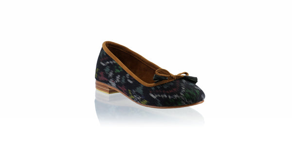 Leather-shoes-Noemi 20mm Ballet - Black Endek-flats ballet-NILUH DJELANTIK-NILUH DJELANTIK