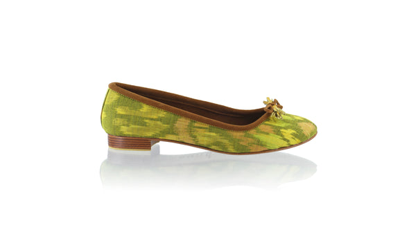 Leather-shoes-Noemi 20mm Ballet - Yellow Lime Endek-flats ballet-NILUH DJELANTIK-NILUH DJELANTIK