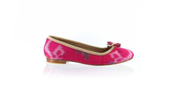 Leather-shoes-Noemi 20mm Ballet - Fuschia Endek-flats ballet-NILUH DJELANTIK-NILUH DJELANTIK