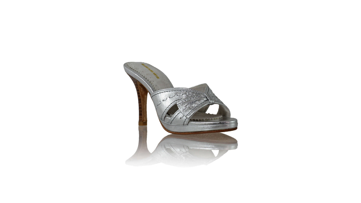 Leather-shoes-Sri PF 90mm SH - Silver-sandals higheel-NILUH DJELANTIK-NILUH DJELANTIK