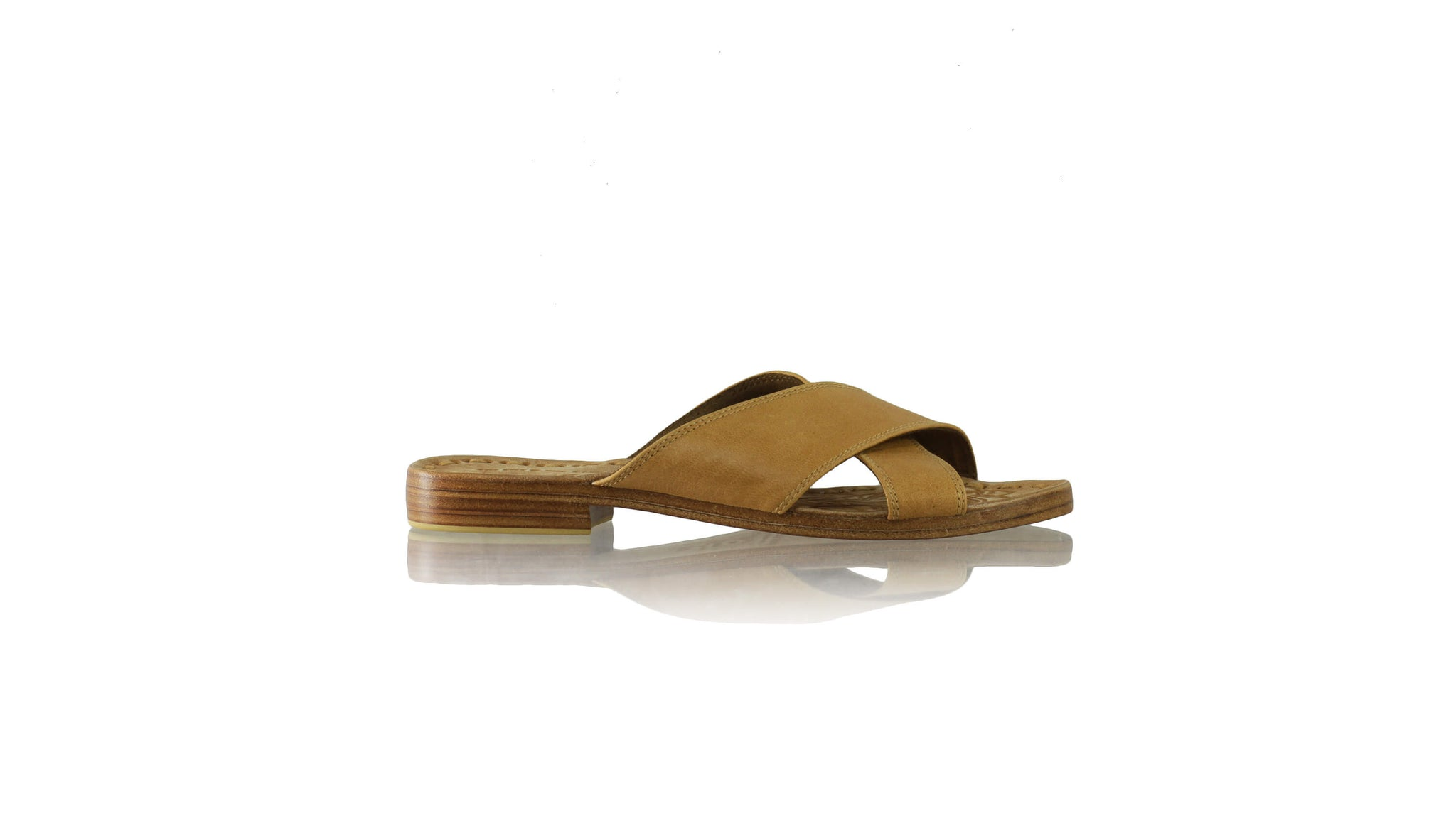 Leather-shoes-Ines 20mm Flat - Camel Brown-sandals flat-NILUH DJELANTIK