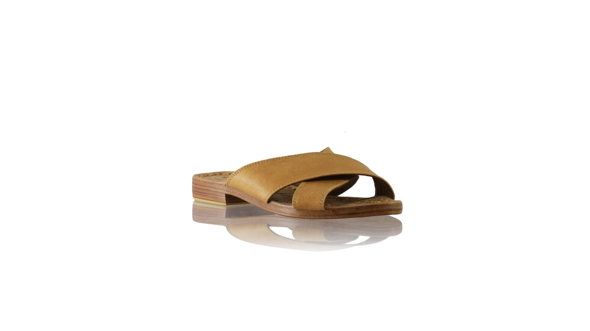 Leather-shoes-Ines 20mm Flat - Camel Brown-sandals flat-NILUH DJELANTIK-NILUH DJELANTIK