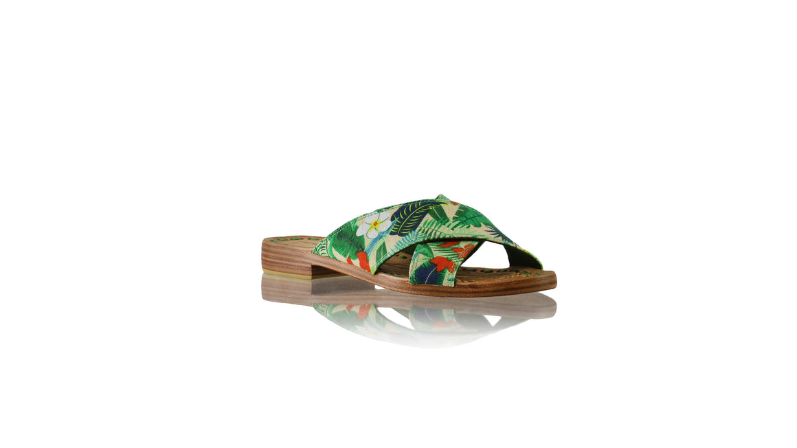 Leather-shoes-Ines 20mm Flat - Multicolour Forest-sandals flat-NILUH DJELANTIK-NILUH DJELANTIK