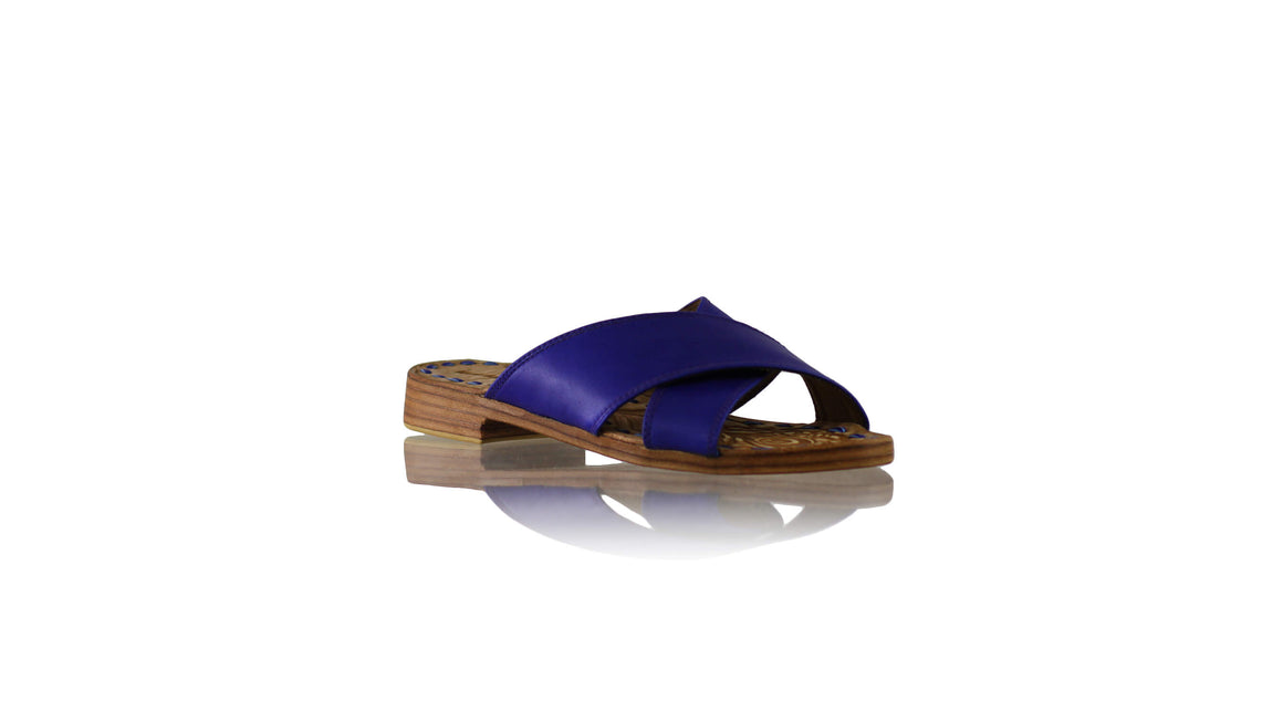 Leather-shoes-Ines 20mm Flat - Royal Blue-sandals flat-NILUH DJELANTIK-NILUH DJELANTIK