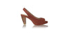 leather shoes Jasmine Woven 90mm New SH - Burnt Orange, sandals higheel , NILUH DJELANTIK - 1