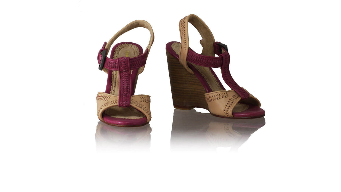 Leather-shoes-Jazz 110mm Wedges - Nude & Pink-sandals wedges-NILUH DJELANTIK-NILUH DJELANTIK