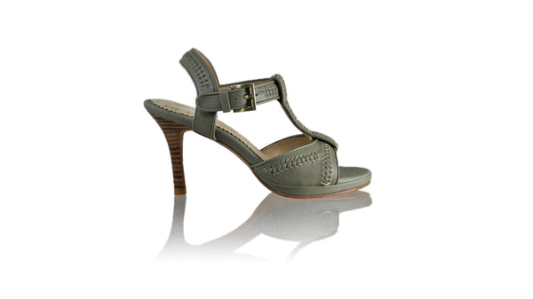 Leather-shoes-Jazz 90mm SH PF - Grey-sandals higheel-NILUH DJELANTIK-NILUH DJELANTIK