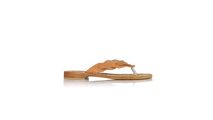 leather shoes Jhonny Thong 20mm - Burnt Orange, sandals flat , NILUH DJELANTIK - 1