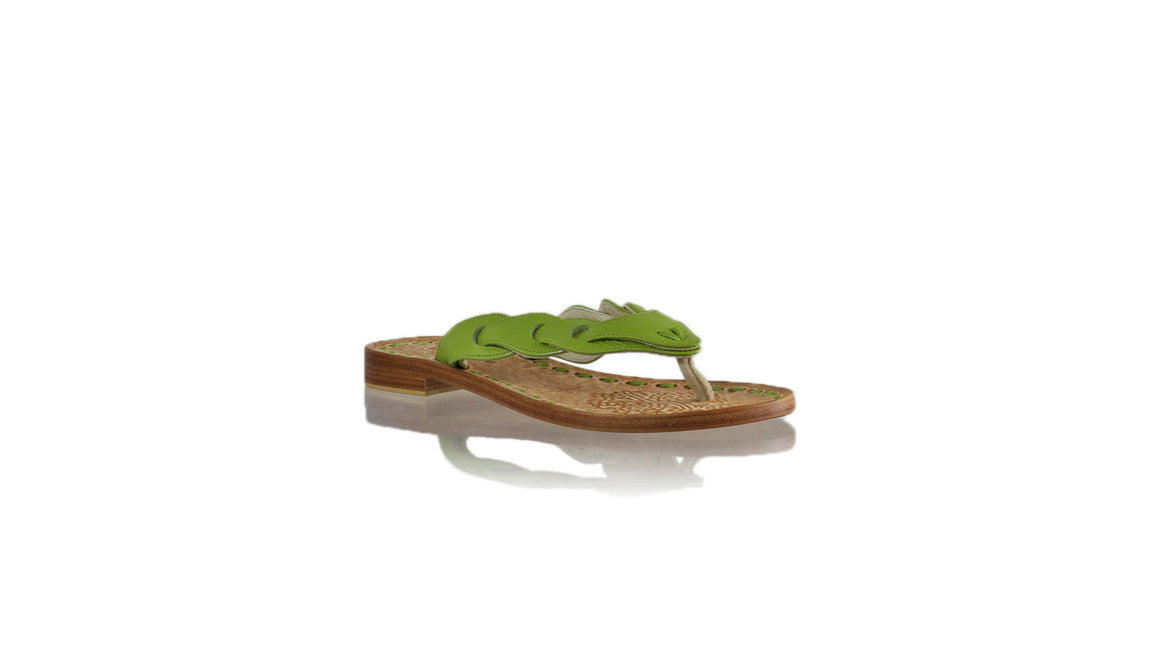 Leather-shoes-Jhonny Thong 20mm - Lime Green BKK-sandals flat-NILUH DJELANTIK-NILUH DJELANTIK