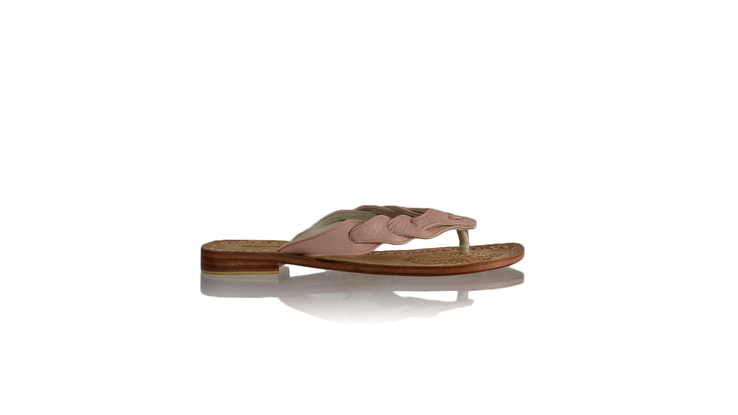 Leather-shoes-Jhonny Thong 20mm Flat - Soft Pink BKK-sandals flat-NILUH DJELANTIK-NILUH DJELANTIK