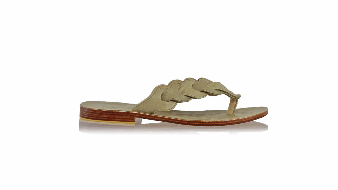 leather shoes Jhonny Thong 25 mm Flats - Light Olive (MEN), sandals flat , NILUH DJELANTIK - 1