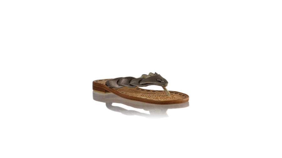 Leather-shoes-Jhonny Thong 20mm Flat - Bronze Textured-sandals flat-NILUH DJELANTIK-NILUH DJELANTIK