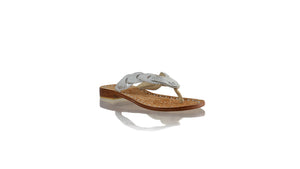 Leather-shoes-Jhonny Thong 20mm Flat - Silver Snake Print-sandals flat-NILUH DJELANTIK-NILUH DJELANTIK