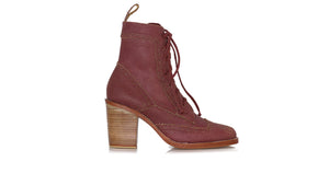 Leather-shoes-Juarez 90mm WH - Red Cracking-boots midheel-NILUH DJELANTIK-NILUH DJELANTIK
