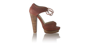 leather shoes Karli PF 140mm WH - Burnt Orange, sandals higheel , NILUH DJELANTIK - 1