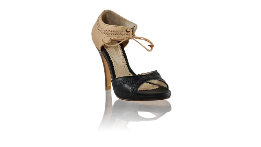 Leather-shoes-Karli 115mm SH PF - Black & Nude-sandals higheel-NILUH DJELANTIK-NILUH DJELANTIK