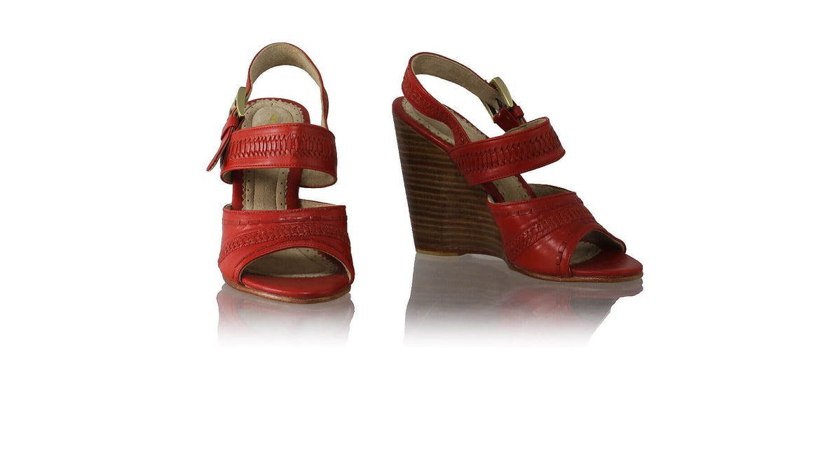 Leather-shoes-Kartika 110mm Wedges - Red-sandals wedges-NILUH DJELANTIK-NILUH DJELANTIK