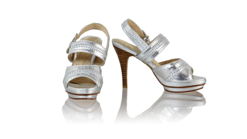 Leather-shoes-Kartika 115mm SH PF- Silver-sandals higheel-NILUH DJELANTIK-NILUH DJELANTIK