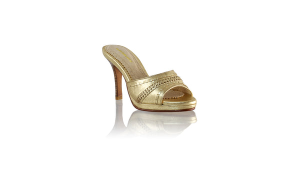 Leather-shoes-Kartini 90mm SH PF - Gold-sandals flat-NILUH DJELANTIK-NILUH DJELANTIK