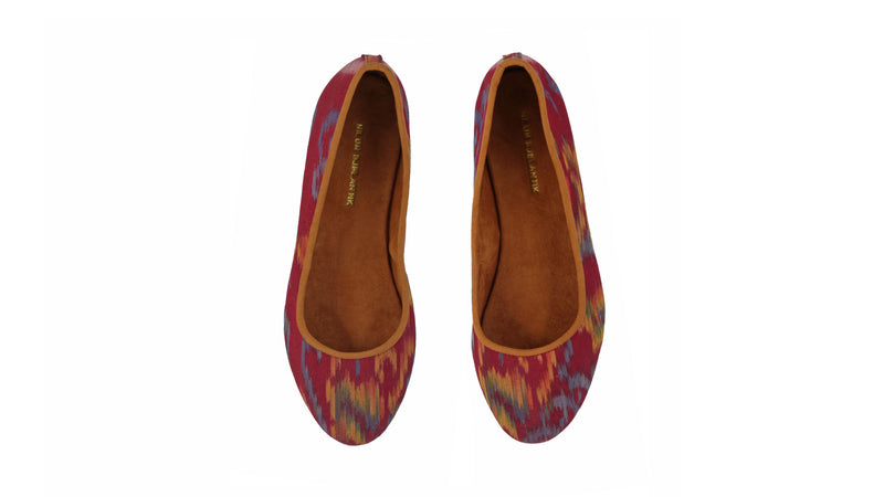 Leather-shoes-Kate 20mm Ballet - Red Endek-flats ballet-NILUH DJELANTIK-NILUH DJELANTIK