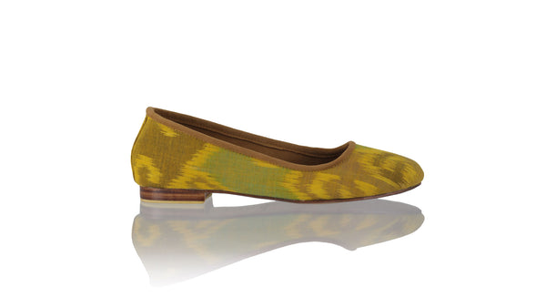 Leather-shoes-Kate 20mm Ballet - Yellow Brown Endek-flats ballet-NILUH DJELANTIK-NILUH DJELANTIK