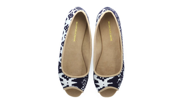 Leather-shoes-Kate Peeptoe 20mm Ballet - Navy Batik Motif Abstract-flats ballet-NILUH DJELANTIK-NILUH DJELANTIK