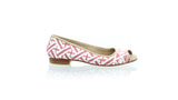Leather-shoes-Kate Peeptoe 20mm Ballet - Pink Batik Motif Labyrinth-flats ballet-NILUH DJELANTIK-NILUH DJELANTIK