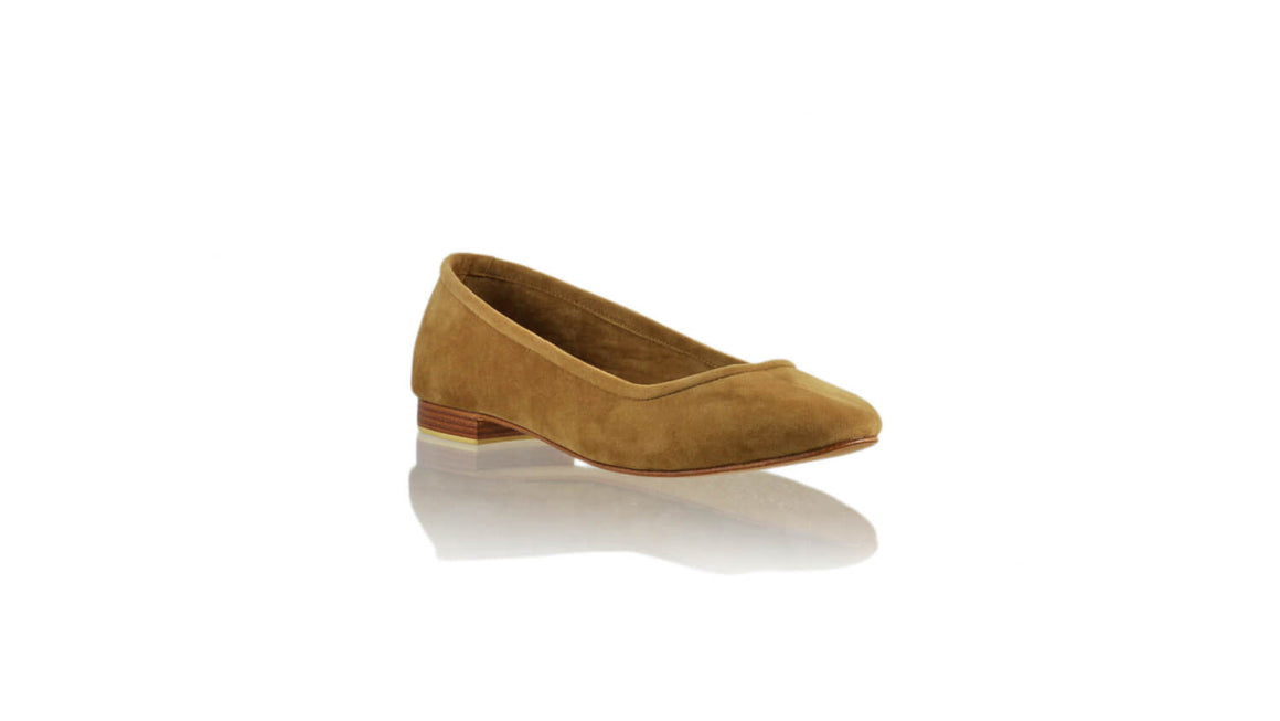 Leather-shoes-Kate 20mm Ballet - Brown Microsuede-flats ballet-NILUH DJELANTIK-NILUH DJELANTIK