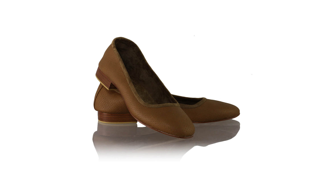 Leather-shoes-Kate 20mm Ballet - Brown Net-flats ballet-NILUH DJELANTIK-NILUH DJELANTIK